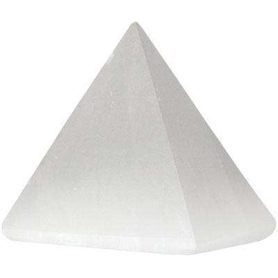 Selenite Carved Pyramid, 30-40 mm