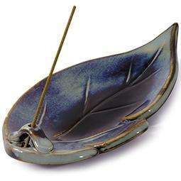 Shoyeido Ceramic Leaf Incense Holder