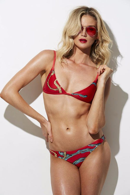 The Bondi Bikini Set - Sea Anemone