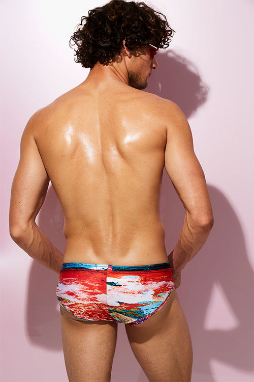 Luxe Swim Briefs - Red Tide