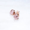 Large Rose Quartz Studs. Rose Quartz Studs. Rose Quartz Earrings. Raw Rose Quartz Earrings. Rose Quartz Gold Earrings. Rose Quartz Rose Gold Earrings. Large Rose Quartz Earrings. Pink Quartz. Bridal Jewelry. Raw Gemstone Jewelry. Handmade Jewelry. Rose Quartz.