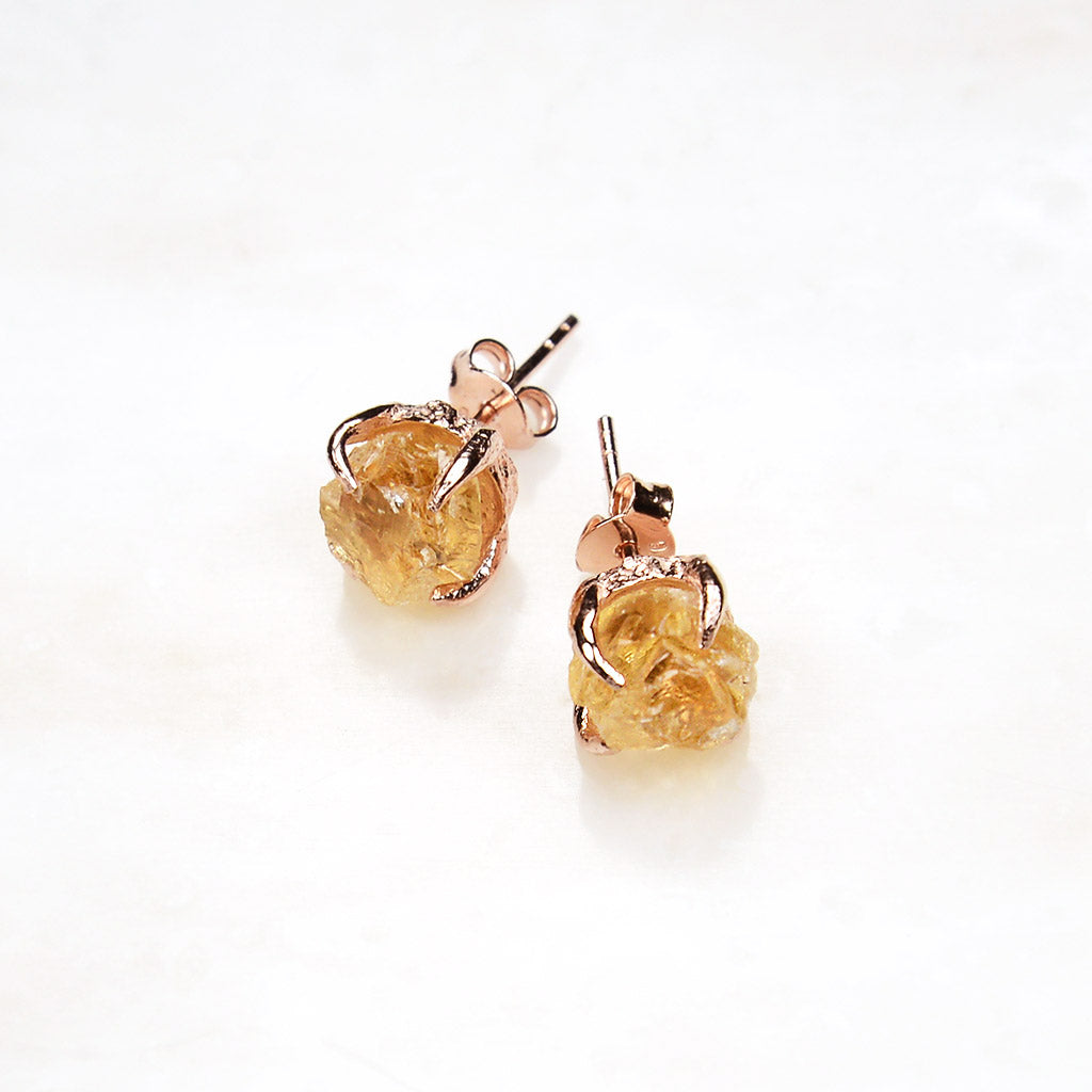 earrings herb earings citrine jewelry apothecary raw shop shoppe gypsy crystals