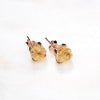 Citrine Earrings. Rose Gold Citrine Earrings. Gold Citrine Earrings. Yellow Quartz Earrings. November birthstone. November birthstone jewelry. Raw citrine earrings. Yellow crystal earrings.