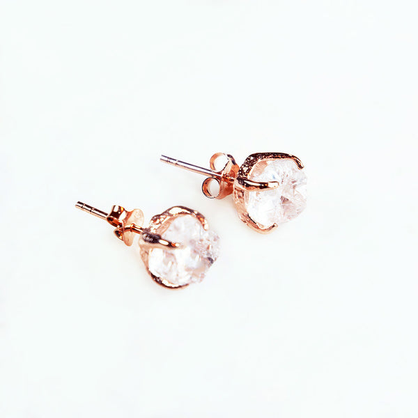 Clear Quartz Earrings. Raw Quartz Earrings. Quartz Gold Earrings. Quartz Rose Gold Earrings. Rough Quartz Earrings. Quartz Studs. Raw Gemstone Earrings. Raw Gemstone Jewellery. Raw Gemstone Jewellery. Quartz. Clear Quartz. Handmade Gemstone Jewellery Australia.