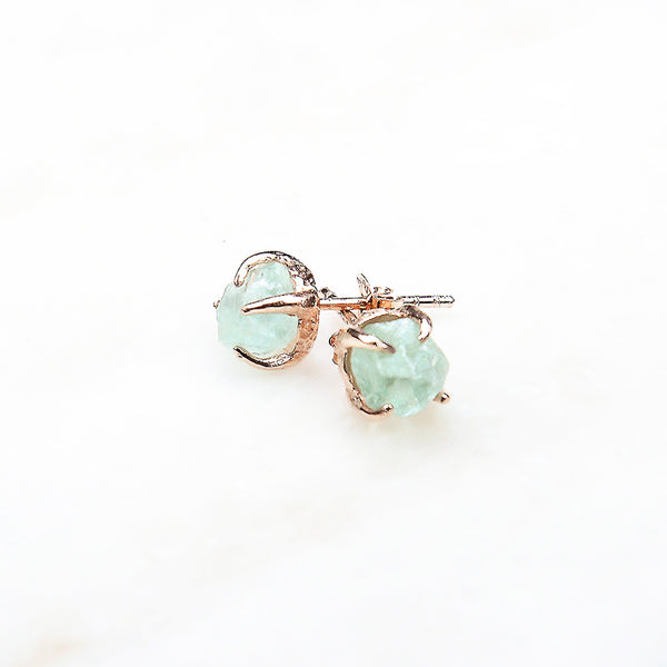 Green Fluorite Earrings. Rose Gold Green Gemstone Studs. Rose Gold Green Fluorite Earrings. Green Fluorite Studs. Green crystal earrings. Green earrings. Green studs.