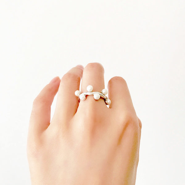 Freshwater Pearl Ring - Silver