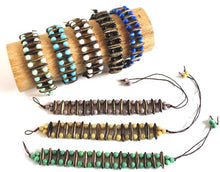 Acacia Rainforest Seed and Turquoise Crystal Bracelet - Natural Artist