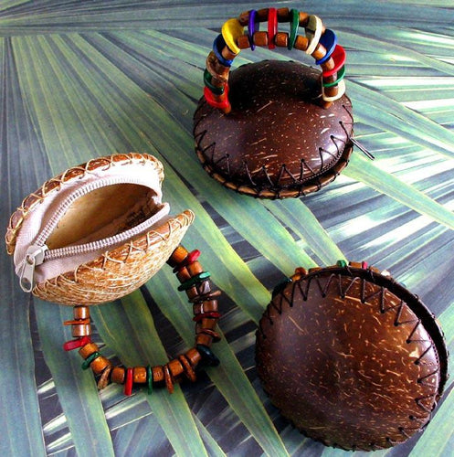 Coconut Coin Purse Bracelet - Natural Artist