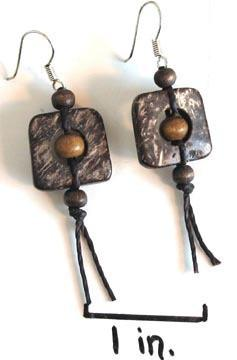 Coconut Earrings - Squared - Natural Artist