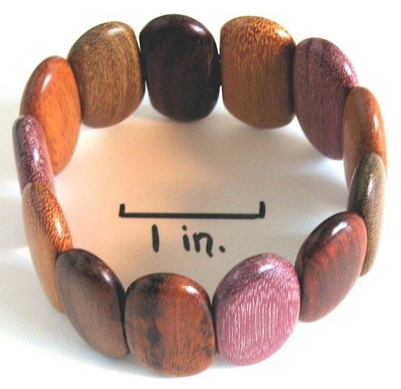 Wood Bracelet - Calalily - Natural Artist