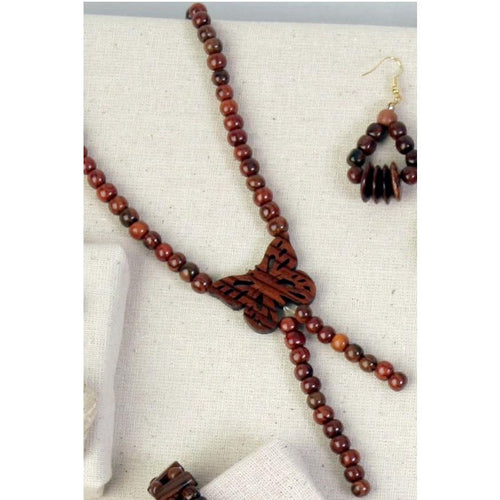 Butterfly Rosewood Necklace - Natural Artist
