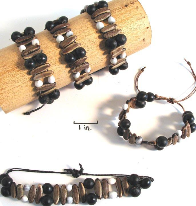 Job's Tears & Acacia Rainforest Seed Bracelet - Natural Artist