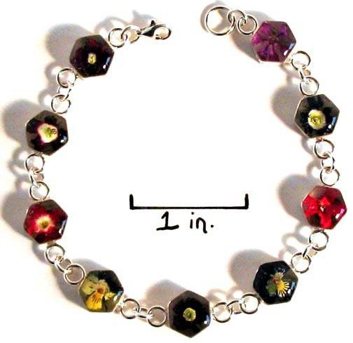 Real Flower Sterling Silver Bracelet - Lola - Natural Artist