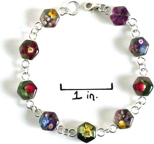 Real Flower Sterling Silver Bracelet - Mia - Natural Artist