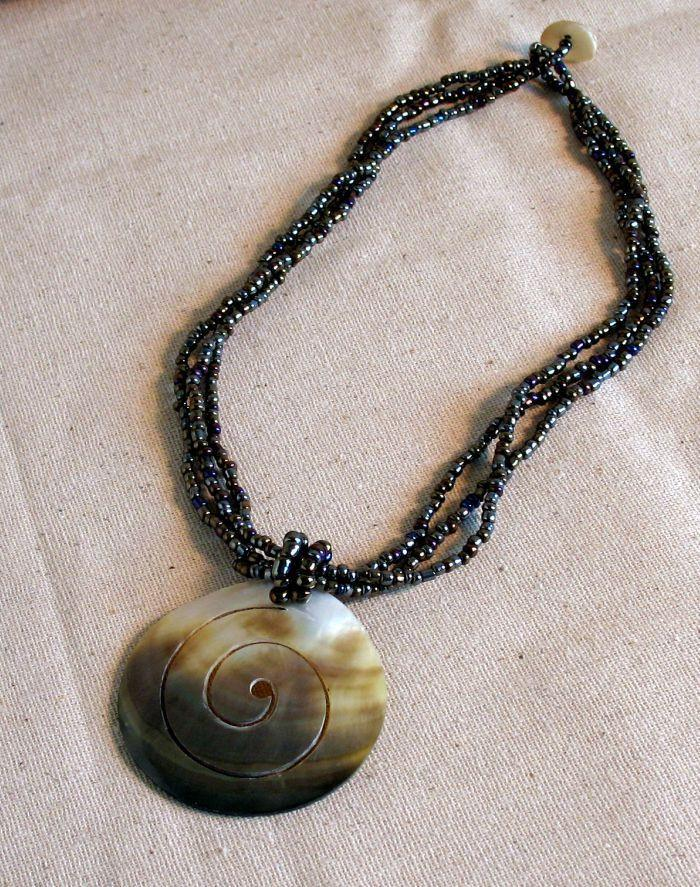 Spiral Shell Necklace - Natural Artist