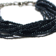 Black Beaded Multi Strand Mayan Bracelet - Natural Artist