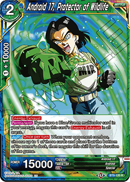 BT8-120 R Android 17, Protector of Wildlife