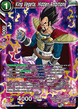 DBSCG-BT13-020 SR King Vegeta, Hidden Ambitions