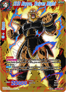 DBSCG-BT7-125 ISR SS3 Nappa, Saiyan Might