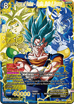 DBSCG-BT7-131 SCR Power of Potara - Vegito, Kefla & Zamasu
