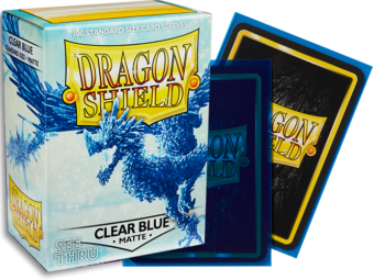 Dragon Shield - Clear Blue 'Celeste' Matte Card Sleeves