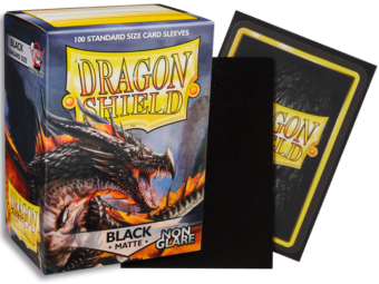 Dragon Shield - Black 'Amina' Matte Card Sleeves