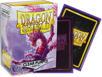 Dragon Shield - Clear Purple 'Racan' Matte Card Sleeves