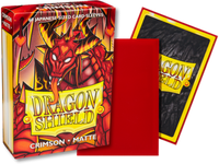 Dragon Shield - Crimson 'Elohaen' Matte Mini Card Sleeves