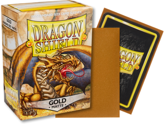 Dragon Shield - Gold 'Gygex' Matte Card Sleeves