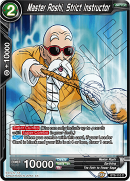 BT6-110 C Master Roshi, Strict Instructor