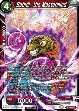 DBSCG P-144 PR Babidi, the Mastermind (Power Booster: World Martial Arts Tournament)