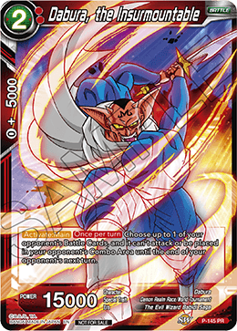 DBSCG P-145 PR Dabura, the Insurmountable (Power Booster: World Martial Arts Tournament)
