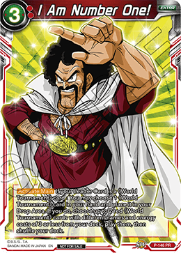 DBSCG P-146 PR I Am Number One! (Power Booster: World Martial Arts Tournament)