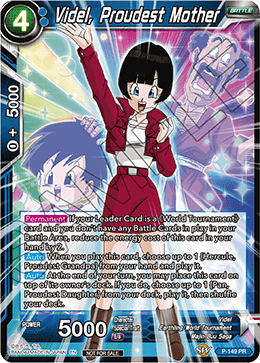 DBSCG P-149 PR Videl, Proudest Mother (Power Booster: World Martial Arts Tournament)