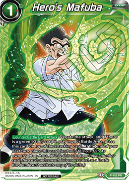 DBSCG P-155 PR Hero's Mafuba (Power Booster: World Martial Arts Tournament)