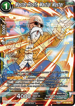 DBSCG P-158 PR Master Roshi, Martial Master (Power Booster: World Martial Arts Tournament)