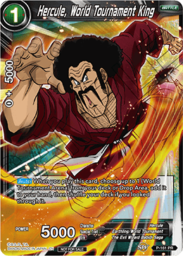 DBSCG P-161 PR Hercule, World Tournament King (Power Booster: World Martial Arts Tournament)