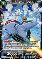 DBSCG P-162 PR Announcer, Witness of History (Power Booster: World Martial Arts Tournament)