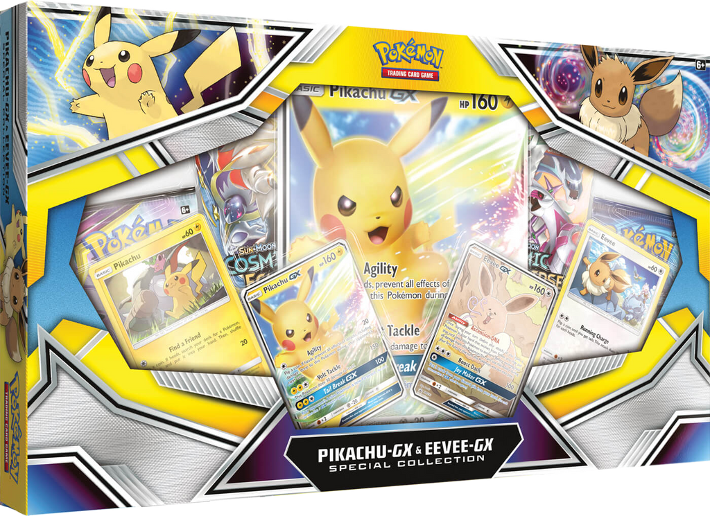 Pokémon TCG: Pikachu-GX & Eevee-GX Special Collection Box