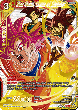 DBSCG-BT8-109 SPR Son Goku, Dawn of Divinity