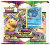 Pokémon TCG: Sword & Shield - Vivid Voltage 3-Blister Set (Vaporeon)