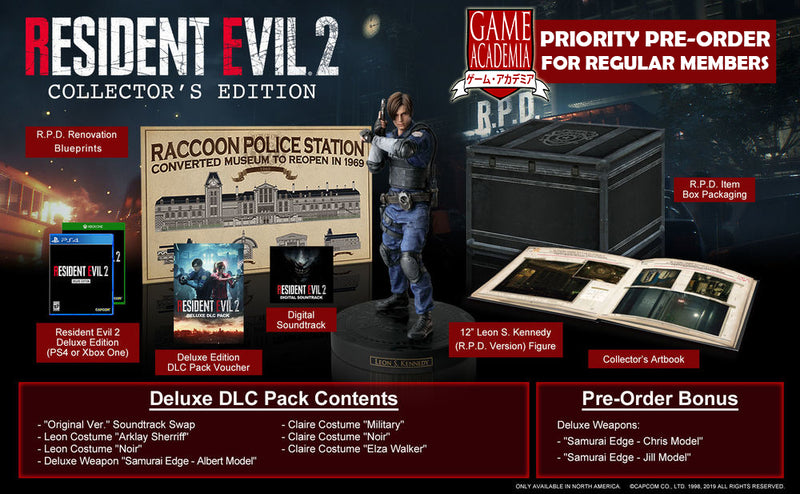 PS4 Resident Evil 2 (Collector's Edition)