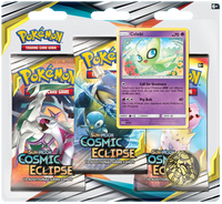 Pokémon TCG: Sun & Moon - Cosmic Eclipse 3-Blister Set (Celebi)