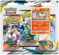Pokémon TCG: Sun & Moon - Cosmic Eclipse 3-Blister Set (Victini)