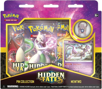 Pokémon TCG: Hidden Fates - Mewtwo Pin Collection Set