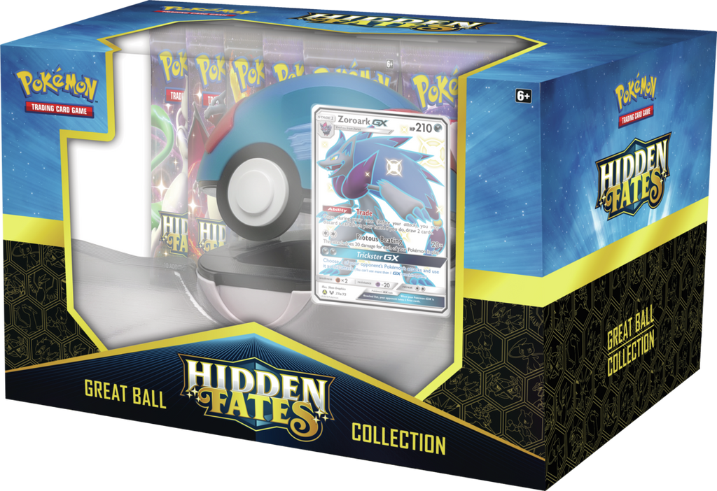 Pokémon TCG: Hidden Fates - PokeBall (Great Ball) Collection Box