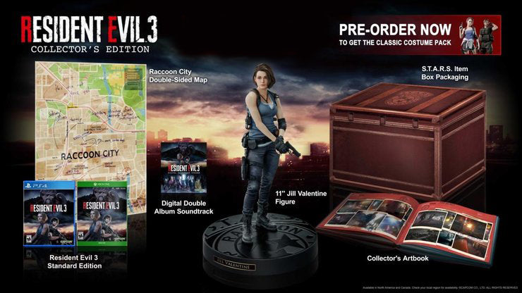 PS4 Resident Evil 3 (Collector's Edition)