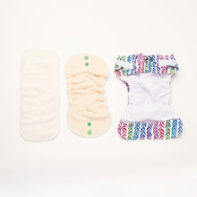 Load image into Gallery viewer, Rainbow Realm | Newborn Cloth Nappy