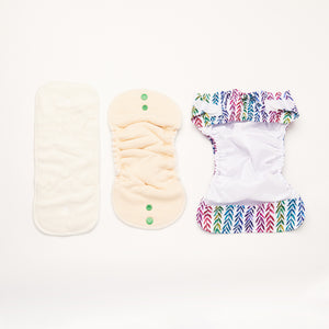 Rainbow Realm | Newborn Cloth Nappy