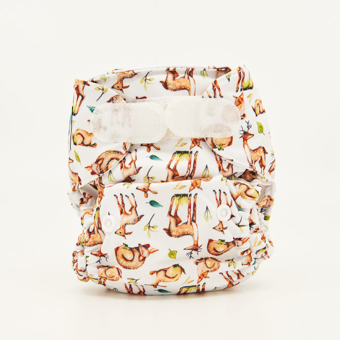 newborn cloth nappy deer print